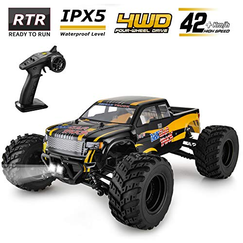 BEZGAR Hobbyist Grade 4x4 Waterproof RC Car, 1:12 Large Size Off Road Remote Control Fast Racing...