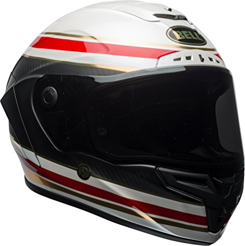 Bell Race Star Full-Face Motorcycle Helmet (Tracer Matte Black/Grey, Medium)