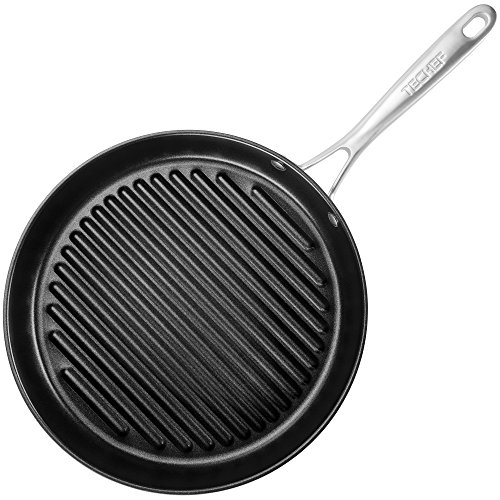 TECHEF - Onyx Collection, 12-Inch Grill Pan, coated with New Teflon Platinum Non-Stick Coating (PFOA Free) (12-inch)