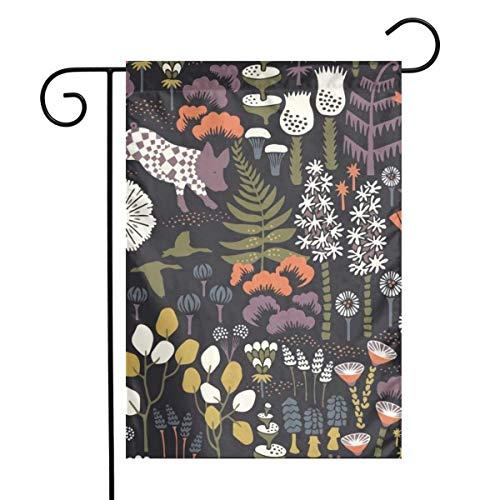 N / A País de Las Maravillas Hoppet Home Garden Flag Vertical Primavera Verano Decorativo Rústico/Casa de Campo Pequeña decoración Patio Banderas Set para decoración Interior y Exterior