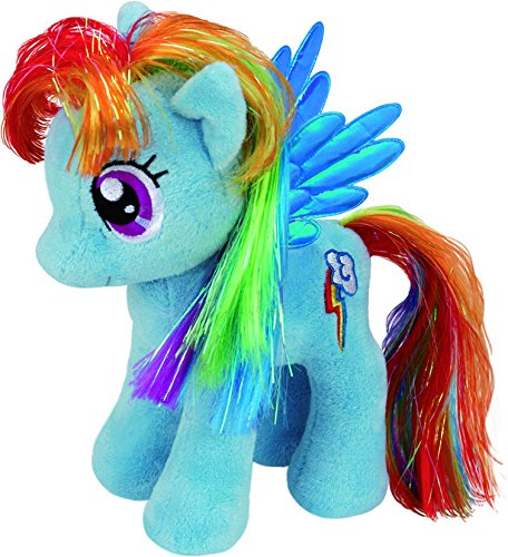 TY 41005 - My Little Pony Baby - Schmusetier Rainbow Dash, 15 cm