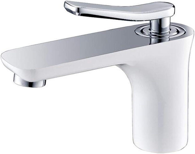 Waschtischarmatur Für Bad Wasserhahn Bad Badezimmer Chrom Plus Weie Arbeitsplatte Kupfer Hei Und Kalt Einzigen Loch Waschbecken Wasserhahn