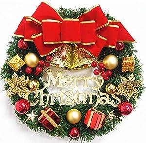 ZHAOWEN CHRISTMAS WREATH Pré-Noël Garland décoré Lit Guirlandes Décorations for Escaliers Cheminées murs épais Densité verte artificielle Couronne Garland avec Cônes, baies rouges d'arbre de Noël Déco