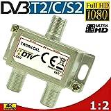 TronicXL Premium Antennenverteiler Verteiler Weiche Splitter F-Buchse zb für DVBT DVBC SAT Splitter...
