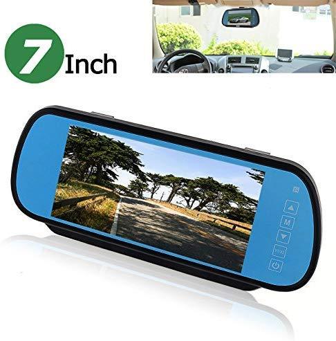 Lsmaa 7 Inch 16:9 TFT LCD Breedbeeld Auto Monitor Auto Achteruitkijkspiegel met Touch Button, HD 800 (W) x 480(H) Resolutie, Twee Manieren Video-ingang