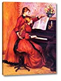 The Piano Lesson by Pierre Auguste Renoir - 15' x 20' Gallery Wrap Canvas Art Print - Ready to Hang