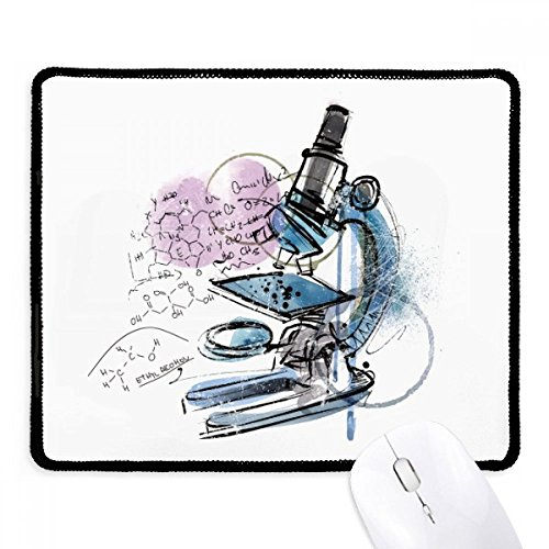 Chemistry Kowledge Microscope Mousepad Stitched Edge Mat Rubber Gaming Pad
