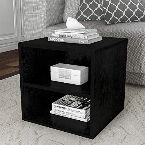 Lavish Home Stackable End Table, Black