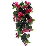Trendy Bendy Garlands - Geranio colgante artificial de seda, rosa vivo de 70cm,...