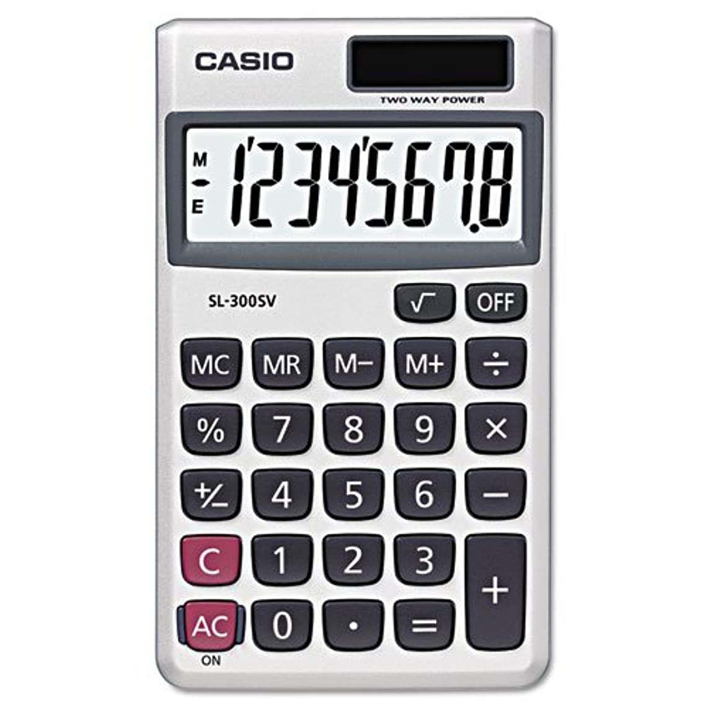 冒険家誤解を招く抑制するCasio Enterprises sl300sv sl-300svハンドヘルド電卓、8桁LCD