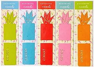 ファルベ ブックマーク/BOOKMARK 折り鶴 5色セット(しおり5枚セット)