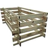 Composteur en Bois 548L, 170x 85x 60cm