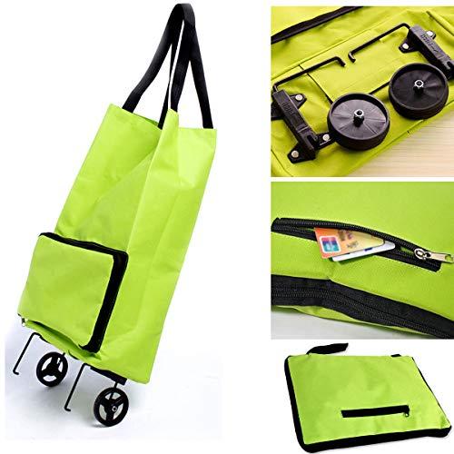 Carrito de la compra plegable para mujer, con ruedas dobles, para equipaje,...