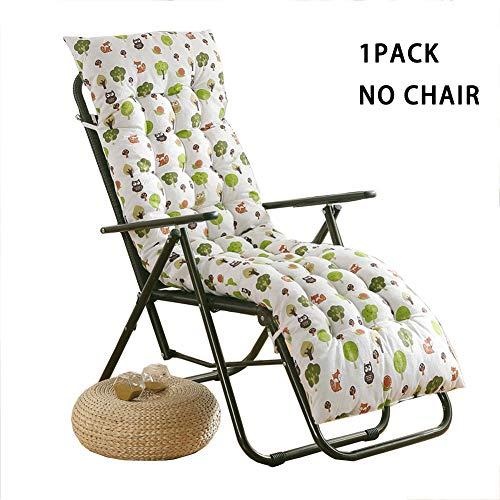 Cojín para tumbona con respaldo acolchado grueso para silla de jardín, patio, asiento de respaldo alto, asiento reclinable, cojín de madera para bancos y vacaciones.