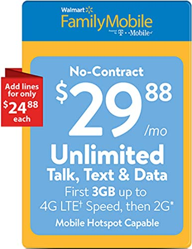 Walmart Family Mobile $29.88 Unlimited Refill Card (Mail Delivery)