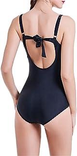 Trajes de baño de una pieza para mujer Vacaciones en la playa Tomar el sol en la playa Para mujeres cómodas y transpirables Gran tamaño de una pieza traje de baño de impresión Control de vientre Bikin