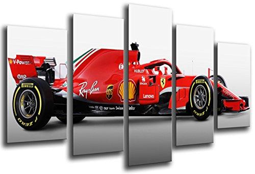 Poster Fotográfico Formula 1Coches, Ferrari F1sf71-h, Ferrari F12018, Sebastian Vettel, Kimi Raikkonen Tamaño total: 165 x 62 cm XXL