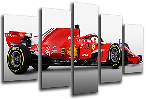 Poster Fotográfico Formula 1Coches, Ferrari F1sf71-h, Ferrari F12018, Sebastian Vettel, Kimi Raikkonen Tamaño...