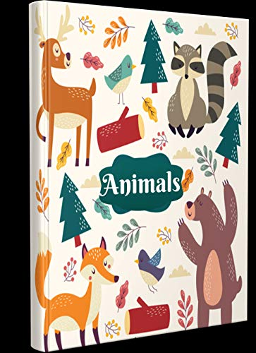 CUTE ANIMALS NOTEBOOK: Notebook suitable as a birthday gift or gifts for special occasions for your kids. For studying and working. |6x9| |100 pages|. (English Edition)