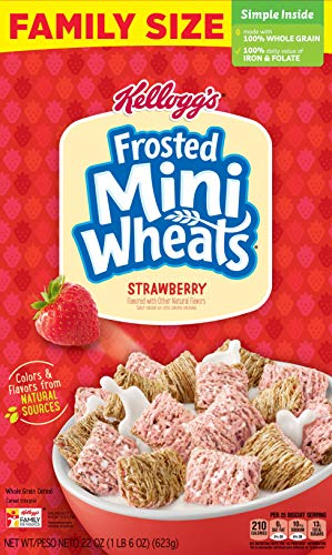 Frosted Mini-Wheats Strawberry Breakfast Cereal, 14.3 Oz