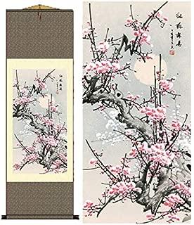 Grace Art Asian Wall Scroll, Plum Blossom