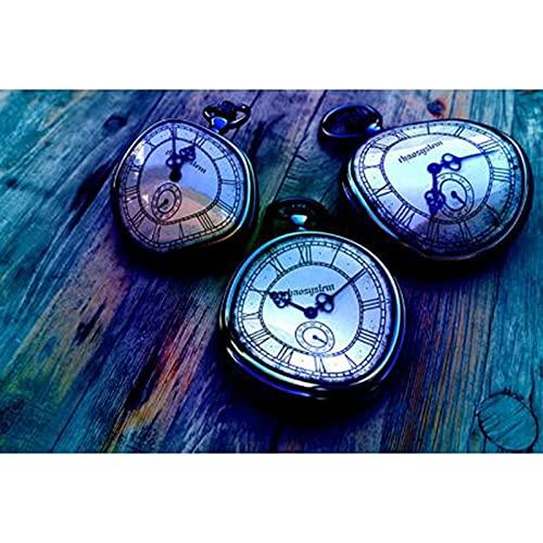 Taladro Redondo Completo 5D Kit De Pintura De Diamantes Diy Reloj De Bordado Paisaje Paisaje Punto De Cruz Costura Completa Decoración Del Hogar Regalo Único 40X50cm