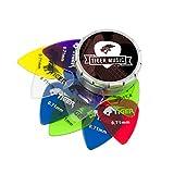 tiger plettri per chitarra con portaplettri &ndash, 12 plettri gel 0.71 mm plettri per chitarra, taglia unica, multicolore