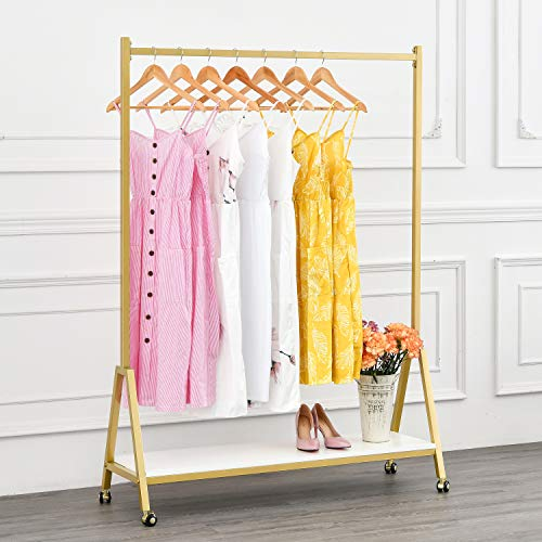 Modern Clothing Rack Heavy Duty Metal Rolling Garment Rack...