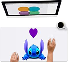 DISNEY COLLECTION Star Trek Stitch Avatar Steadi Cartoon Image Cute Square Round Computer Gaming Mouse Pad Skidproof High Mouse Tracking for Office, Gaming, Home