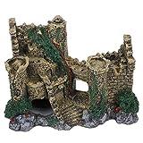 TEAYASON Decoraciones de Castillo No Tóxicas de Estilo Europeo, Paisaje de Castillo Antiguo, Recién Utilizado en Tanques de Peces de Acuario