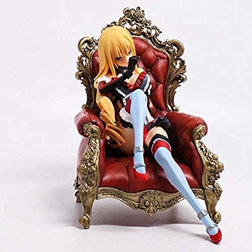 N / A Fate Stay Night 2 Throne Generation Sentado Pijama Sable Silla Anime Figura Modelo Decoración Juguete Estatuilla Papel Coleccionable Personaje Adulto Dibujos Animados Figuras 16CM-16 cm