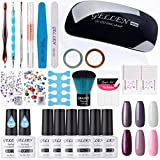 Gellen Gel Nail Polish Starter Kit With Nail Light- Selected 6 Colors With - Best Reviews Guide