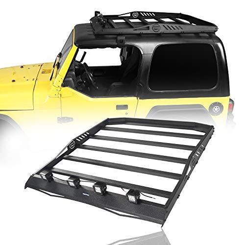 Hooke Road Hardtop Catgo Basket Roof Rack Luggage Carrier Compatible with Jeep Wrangler TJ 1997 1998 1999 2000 2001 2002 2003 2004 2005 2006