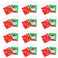EXCEART 400個クリスマスセロハンバッグキャンディーバッグギフトバッグホリデークリアトリートバッグ粘着性キャン??ディークッキーバッグギフトセロバッグ