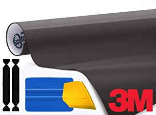 3M 1080 Matte Metallic Charcoal Air-Release Vinyl Wrap Roll Including Toolkit (1ft x 5ft)