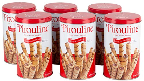 Pirouline Rolled Wafers, Chocolate Hazelnut, 14 Ounce, Pack of 6 (16579)