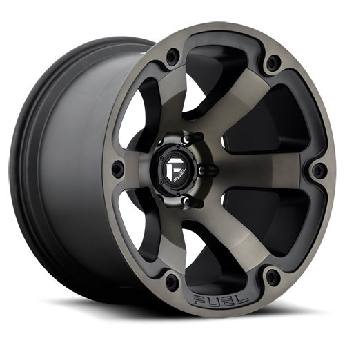 Fuel Offroad Wheels D564 17x9 Beast 6x5.5 MB4.50 -12 108 Black Machined DDT