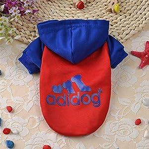 Techrace Adidog Chiens Chauds Manteaux Manteau vêtements Pull t-Shirt Chiot Animal, Conception Sportive Manteau Manteau à Capuchon Chaud pour Gros Chien