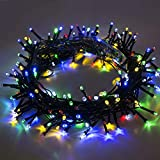 MIRADH [18M 60ft 75 Led] Outdoor String Lights Decoration; 8 Mode (Steady; Flash); Diwali;Garden Decor; Halloween; Christmas; Tree; Party; Holiday (Multi-Color) (18M)