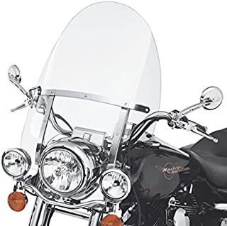 29'' x 22'' Detachable Quick Release Windshield For Harley Road King 94-18 Clear
