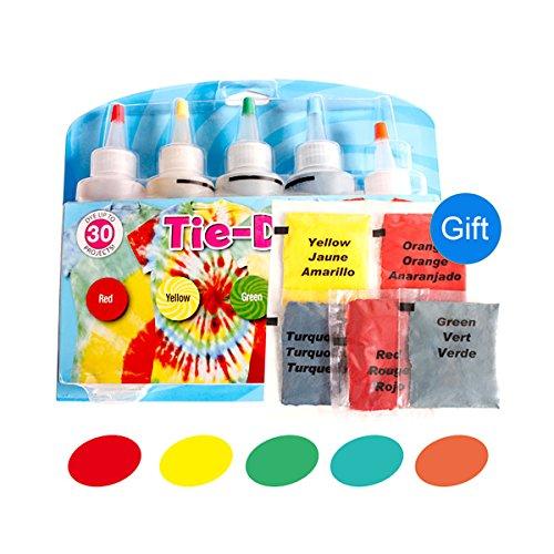 Kit de 5 colores para teñir corbatas de ropa de algodón y lino #1