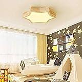 XZJJZ LED Luz de Techo de atenuación Luz Moderno Minimalista Estilo de Madera Geométrico Creativo Sala de Estar Dormitorio...
