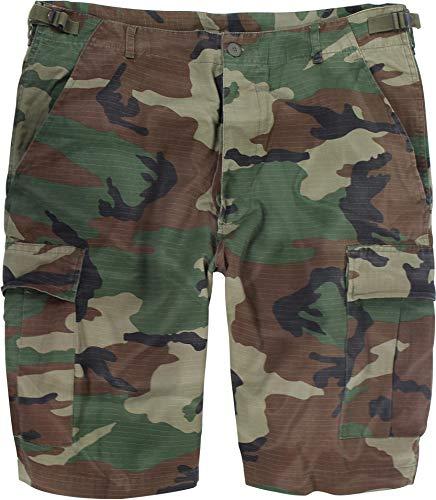 US Bermuda Shorts aus Ripstop-Gewebe (Baumwolle) [XS-4XL] Farbe Woodland Größe L