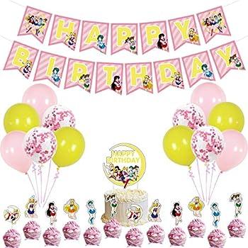 Sailor Moon Birthday Party Supplies  Sailor Moon theme Party Banner balloon cake topper Decoration