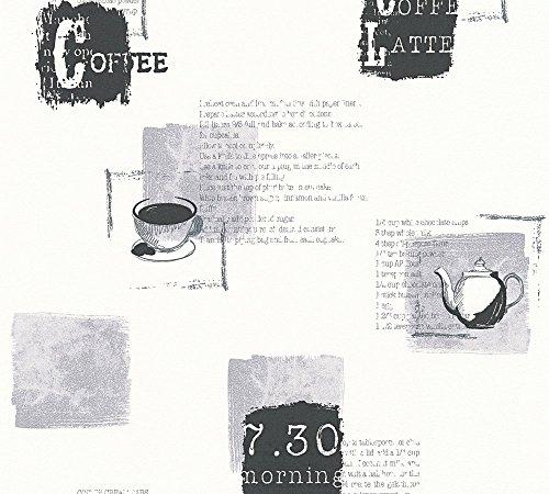 A.S. Création Vliestapete Kitchen Dreams Tapete Küchentapete 10,05 m x 0,53 m grau schwarz weiß Made in Germany 327334 32733-4