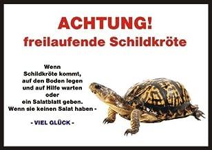 Indigos UG - deurbordje Funschild - schildpad - voor kooien, klemmen, huisdieren, deur, dier, aquarium - DIN A5 PVC 3mm st...