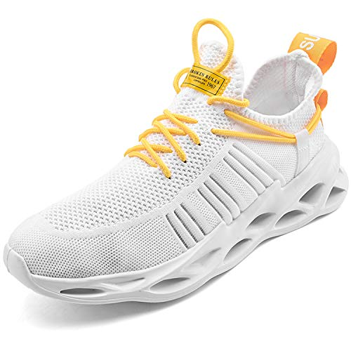 KAWAI Zapatillas Running Hombre Antideslizantes Ligeras Zapatos para Correr Cómoda Sneakers Zapatillas Deportivas Correr Gimnasio Casual Calzado Aire Libre Sneakers G157/White 39