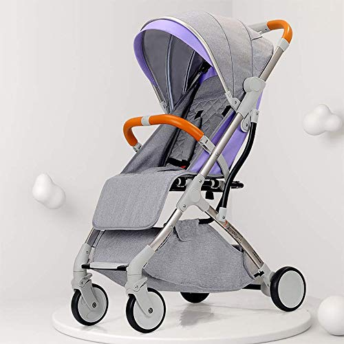 Best Deals! Yyqt Baby Strollers, Folding Strollers Towbar Strollers Baby Cababy Carriage 3 in 1 (Col...