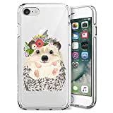 GOADK iPhone 7/8/se 2020 Case All-Inclusive Camera Shatter-Resistant Uv Transparent Ultra-Thin Phone Case (Hedgehog)