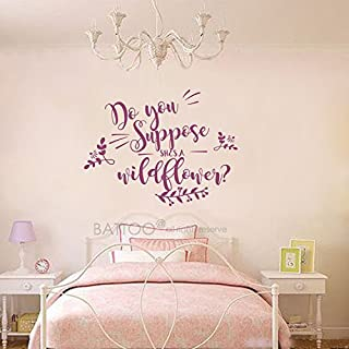 Elma332Tuttle Girls Nursery Sticker Decals Quotes Do You Suppose She's Wildflower Wall Decal Quote 40